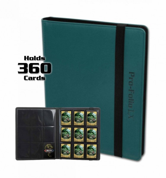 BCW Pro-Folio 9-Pocket LX Portfolio Teal