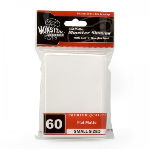 Monster Sleeves Flat Matte Japan White (60 ct.)