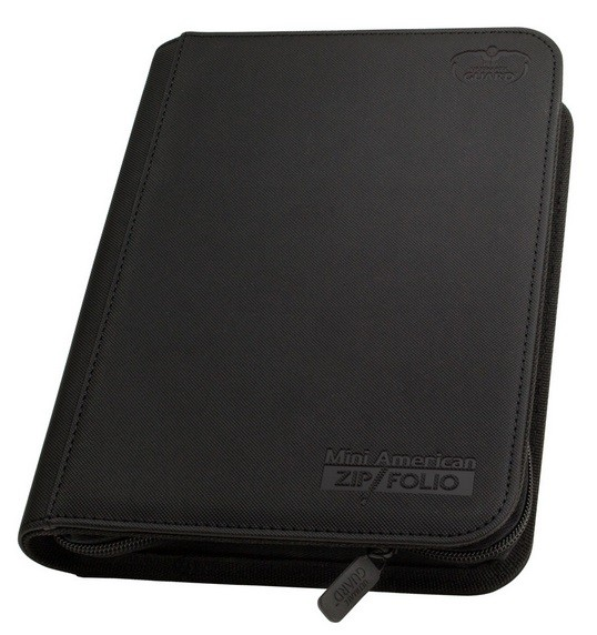 UG Mini American 9-Pocket ZipFolio XenoSkin Black
