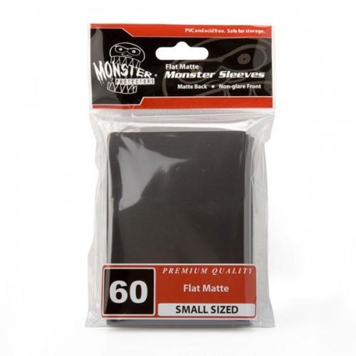 Monster Sleeves Flat Matte Japan Black (60 ct.)