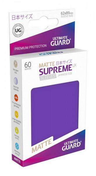UG Supreme UX Sleeves Japan Size Matt Purple 60 ct