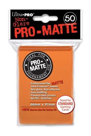UP Pro-Matte Sleeves orange (50 ct.)