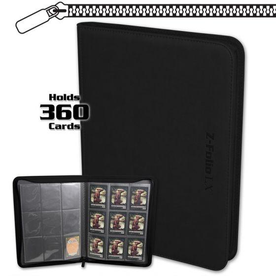 BCW Z-Folio 9-Pocket LX Portfolio Black