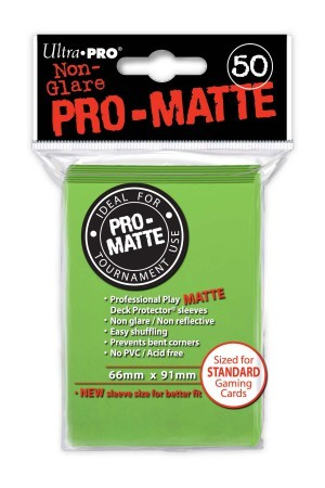 UP Pro-Matte Sleeves lime green (50 ct.)
