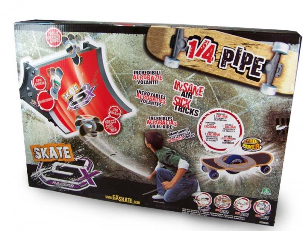 GX Skate Racers GyroPower 1/4 Pipe inkl.Skateboard