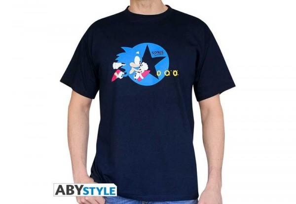 Sonic The Hedgehog Sonic laufend T-Shirt navy (M)
