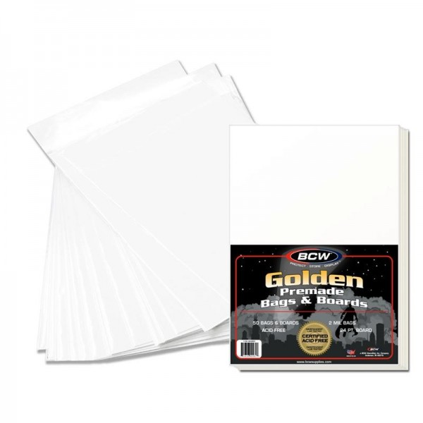 BCW Golden Comic Bags & Boards (50 ct.)
