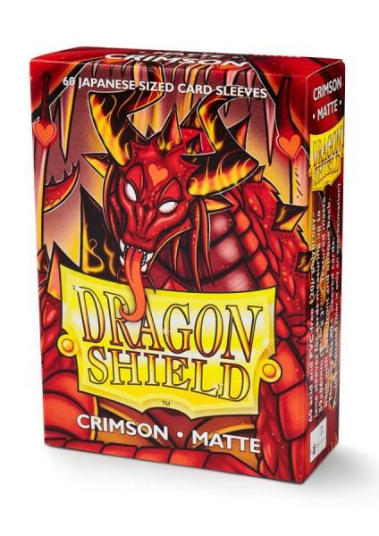 Dragon Shield Japanese Sleeves Matte Crimson(60ct)