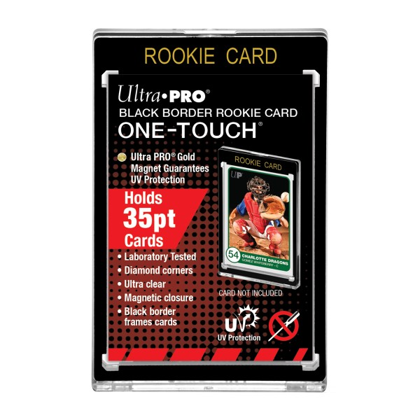 UP One-Touch Card Holder Rookie(35pt) Black Border