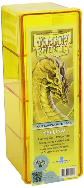 Dragon Shield Four-Compartment Storage Box Yellow