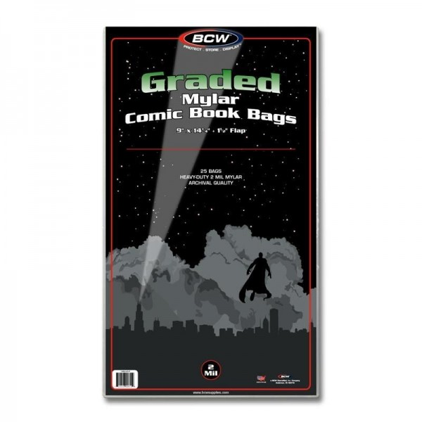 BCW Mylar® Graded Comic Book Bags (25 ct.) 2-Mil
